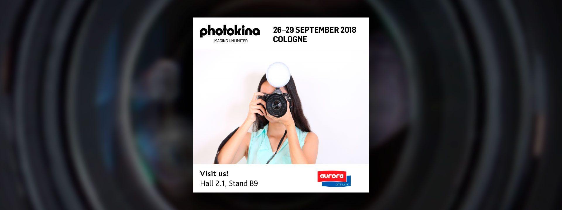 Aurora Lite Bank auf der photokina 2018 in Köln
